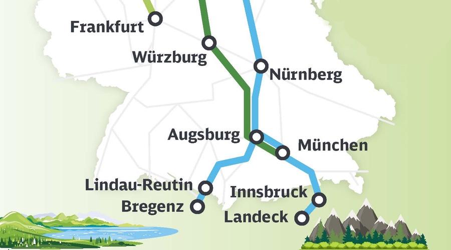 Urlaubs-ICE im Sommerfahrplan 2021 © DB AG - Bahnhof-Erfurt.de
