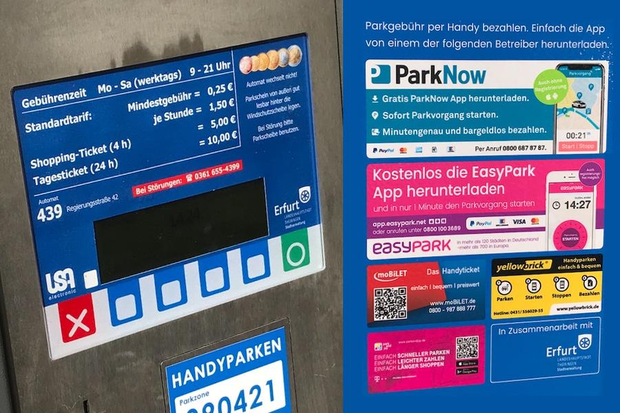 Parkautomaten in Erfurt - Bahnhof-Erfurt.de