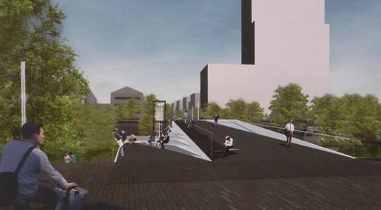 Einer der beiden Entwürfe soll die alte DDR-Brücke ersetzen - Foto: www.bahnhof-erfurt.de