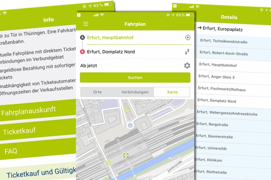 AMT-App fürs Smartphone - Bahnhof-Erfurt.de